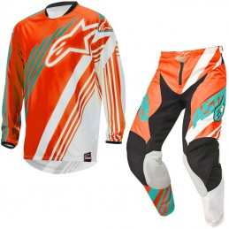Tenue ALPINESTARS RACER SUPERMATIC Orange/Green