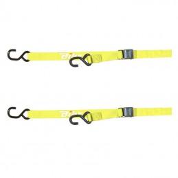 Sangles à boucle 25mm jaunes