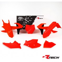 Kit plastique R-TECH SX 250 Orange fuo