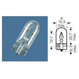 Ampoule W2 témoin culot verre 12V-3W