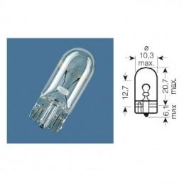 Ampoule W2,1 témoin culot verre 12V-2W