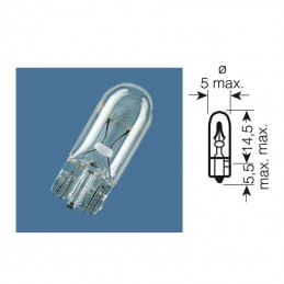 Ampoule W2 témoin culot verre 12V-1,2W