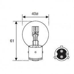 Ampoule BA21D 6V 40/45W