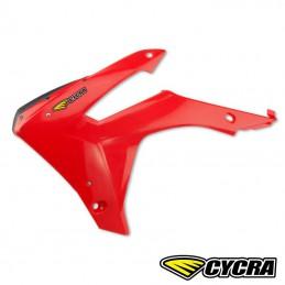 Ouies de radiateur CYCRA CRF 450 rouges