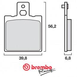 Plaquettes de frein BREMBO 07BB0106 organique