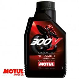 Huile moteur 4 temps MOTUL 300V Factory Line 10W40 Bidon 1 litre