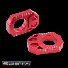 Tendeurs de chaine alu rouges ZETA RMZ 250