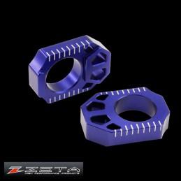 Tendeurs de chaine alu bleus ZETA KX 125