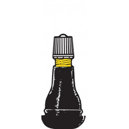 Valve droite caoutchoutée TR413