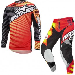 Tenue ALPINESTARS RACER BRAAP Red/Yellow