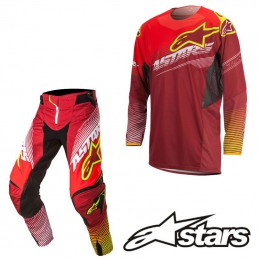 Tenue ALPINESTARS TECHSTAR FACTORY Red