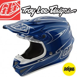Casque Troy Lee Designs SE4 2018 Pinstripe Blue