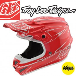 Casque Troy Lee Designs SE4 2018 Pinstripe Red