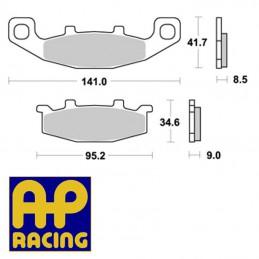 Plaquettes de frein AP RACING LMP197SF