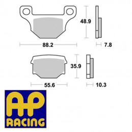 Plaquettes de frein AP RACING LMP185ST