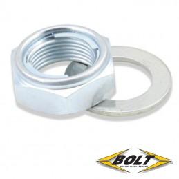 Ecrou et rondelle d'axe de roue M22 BOLT