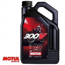 Huile moteur 4 temps MOTUL 300V Off Road 5W40 4 Litres