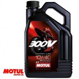 Huile moteur 4 temps MOTUL 300V Factory Line 10W40 Bidon 4 litres