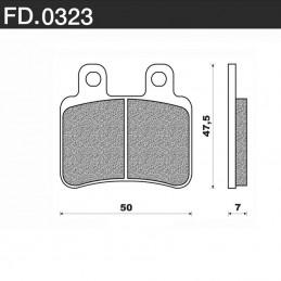 Plaquettes de frein NEWFREN FD0323 BA