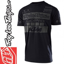 Tee shirt Troy Lee Designs KTM GoPro 2017 Noir