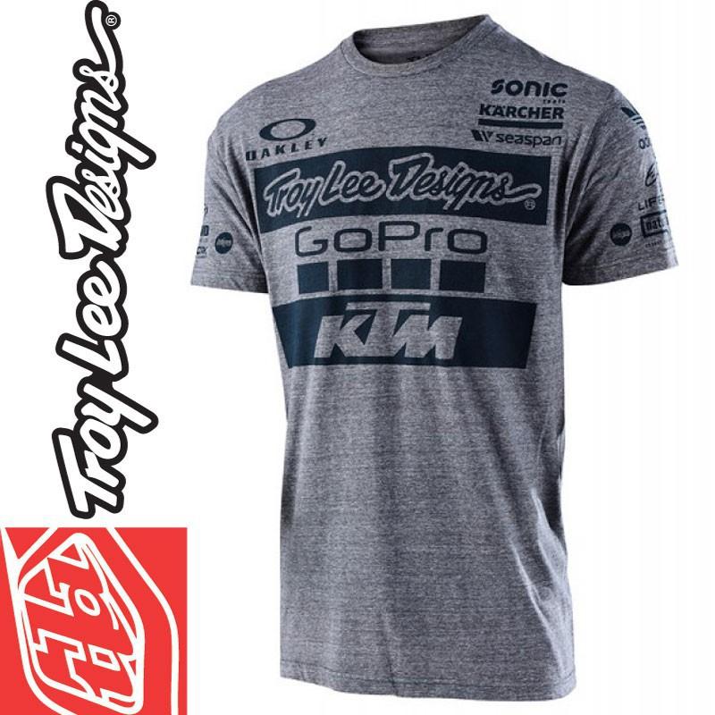 Tee shirt Troy Lee Designs KTM GoPro 2017 Gris