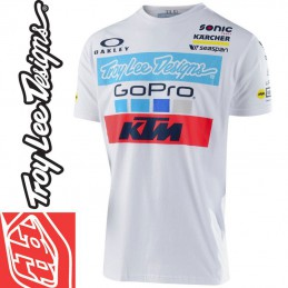 Tee shirt Troy Lee Designs KTM GoPro Blanc