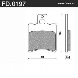 Plaquettes de frein NEWFREN FD0197 BA