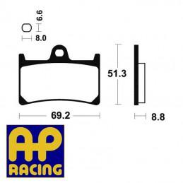 Plaquettes de frein AP RACING LMP234SF