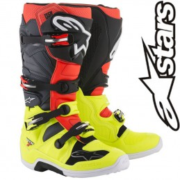 Bottes ALPINESTARS TECH 7 Gray-Red-Yellow flo