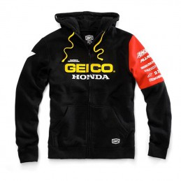 Sweat à Capuche Zippé 100% GEICO/HONDA Factory