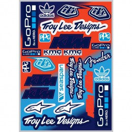 Planche stickers Team Troy Lee Designs