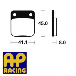 Plaquettes de freins AP RACING LMP136OR