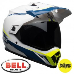 Casque BELL MX-9 MIPS Adventure White/Blue/Yellow