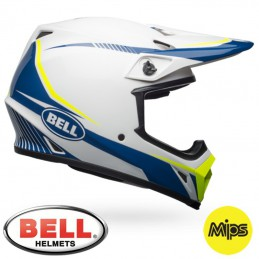 Casque BELL MX-9 MIPS Torch White/Blue/Yellow