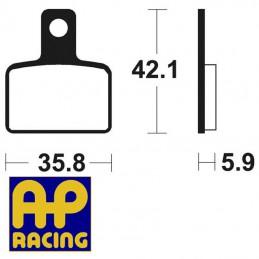 Plaquettes de frein AP RACING LMP495ST