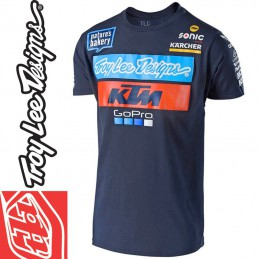 Tee shirt Troy Lee Designs KTM GoPro 2018 Bleu
