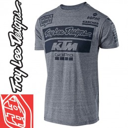 Tee shirt Troy Lee Designs KTM GoPro 2018 Gris