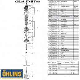 Joint de tige d'amortisseur OHLINS TTX46 Flow