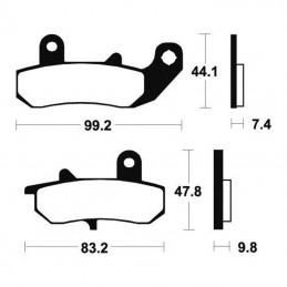 Plaquettes de frein AP RACING LMP235ST