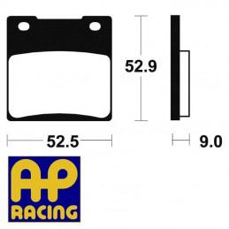 Plaquettes de frein AP RACING LMP156 Métal fritté