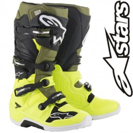 Bottes ALPINESTARS TECH 7 Military/Yellow flo