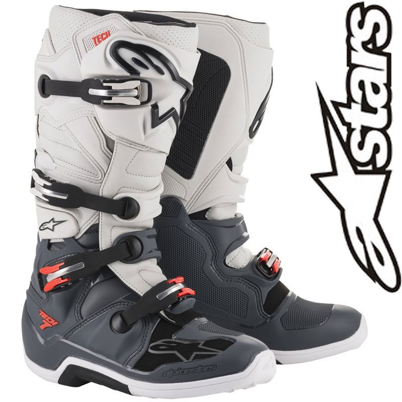 Bottes ALPINESTARS TECH 7 Gray/Red flo