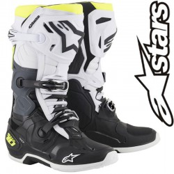 Bottes ALPINESTARS TECH 10 Black-White-Yellow