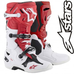 Bottes ALPINESTARS TECH 10 White-Red 2019