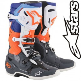 Bottes ALPINESTARS TECH 10 Gray-Orange-Blue 2019