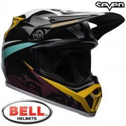 Casque BELL MX-9 MIPS SEVEN Ignite black-aqua
