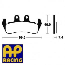 Plaquettes de frein AP RACING LMP253ST