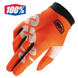 Gants 100% ITRACK Orange fluo