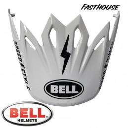 Visière BELL MOTO 9 FASTHOUSE White-Black