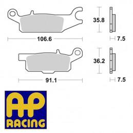 Plaquettes de frein AP RACING LMP450 OR